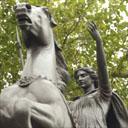 Boadicea-Statue, Königin der Iceni, von Thomas Thornycroft, Westminster Bridge, London. Photo: Graham Turner